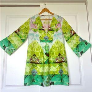 Cute green/ pink tunic dress SZ: L/XL